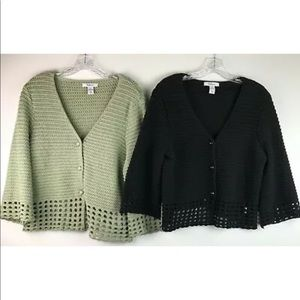 Lot of 2 Style & Co Women's Knit Cardigans Size XL